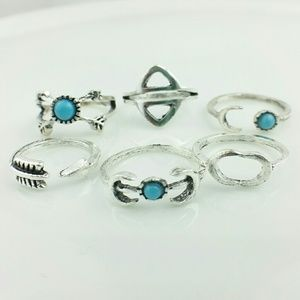 NEW Set of 6 Boho Above Knuckle Stack Rings